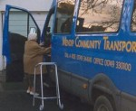 Mendip Community Transport van