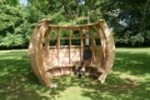 Unusual garden furniture - a pod